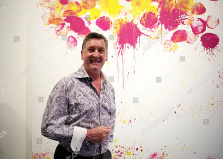 Vip Preview of Omar Hassan's Exhibition 'Breaking Through' at Continiartuk New Bond Street London Robin Cousins