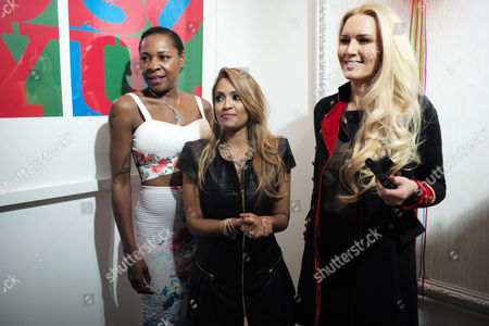 Vip Preview of Omar Hassan's Exhibition 'Breaking Through' at Continiartuk New Bond Street London Sonique Tasmin Lucia-khan & Emma Noble