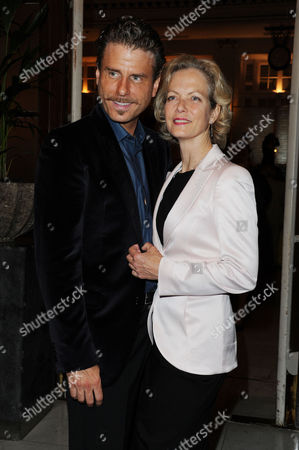 Volcano Press Night - Dinner at the Waldorf Hotel Aldwych Jason Durr with His Co-star Jenny Seagrove