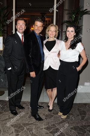 Volcano Press Night - Dinner at the Waldorf Hotel Aldwych Robin Sebastian Jason Durr Jenny Seagrove and Dawn Steele