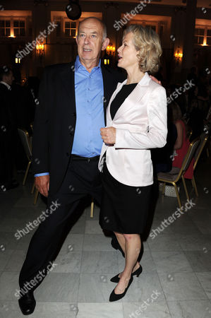 Stock Photo of Volcano Press Night - Dinner at the Waldorf Hotel Aldwych Director Roy Marsden and Jenny Seagrove