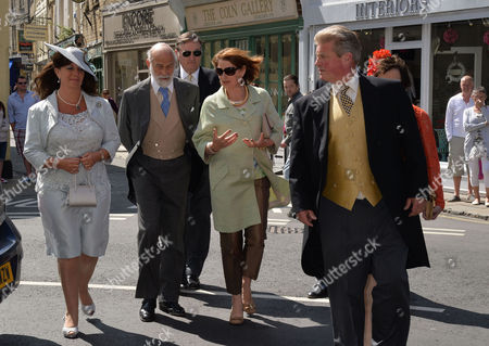 Stock Image of Wedding at St John the Baptist Cirencester Countess Bathurst Prince Michael of Kent and Earl Bathurst