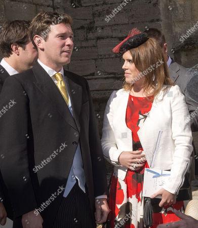 Wedding at St John the Baptist Cirencester Princess Eugenie of York with Her Boyfriend Jack Brooksbank