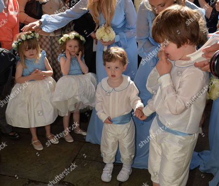 Wedding at St John the Baptist Cirencester Bridesmaids Including Beatrice Rose Hart and Pageboys