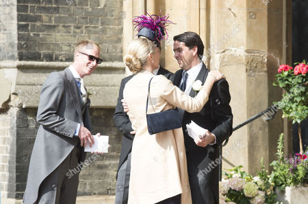 Wedding at St Paul's Church, Knightsbridge, London. Deborah Leng greets the ushers