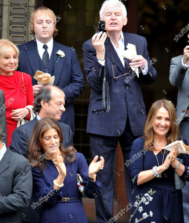 Stock Photo of Wedding of Sir Paul Mccartney and Nancy Shevell at Westminster Register Office the Old Marylebone Town Hall Paul Mccartney Brother Mike Mcgear and Son James Mccartney