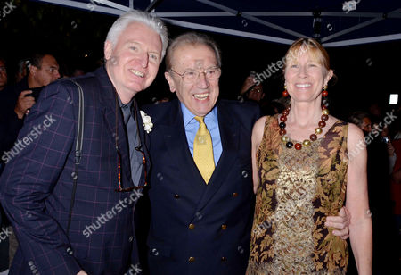Wedding Party Arrivals in St Johns Wood Mike Mcgear with Sir David and Lady Carina Frost