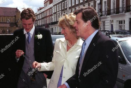 Wedding at St Simon Zelotes Church Knightsbridge Annabel and Simon Elliot with the Groom Zac Goldsmith