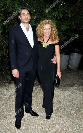 Wedding Party Arrivals Sussex Kelly Hoppen with Her Partner Adam Meiklejohn