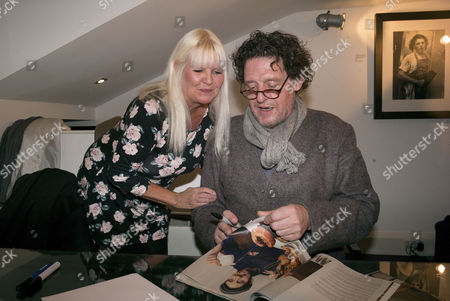 Stock Picture of White Heat 25th Anniversary at the Little Black Gallery Park Walk Fulham West London Lindsey Carlos Clarke & Marco Pierre White