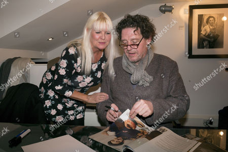 Stock Image of White Heat 25th Anniversary at the Little Black Gallery Park Walk Fulham West London Lindsey Carlos Clarke & Marco Pierre White