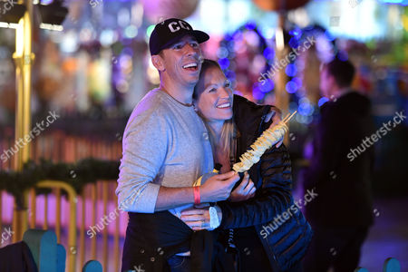 Stock Picture of Winter Wonderland at Hyde Park Christian Candy with His Wife Emily Crompton