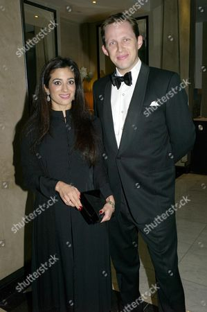Women of the Future Awards Dinner at the London Marriot Grosvenor Square London Hosted by Real Business Magazine and Shell Princess Badiya Bint El Hassan with Her Husband Khaled Edward Blair
