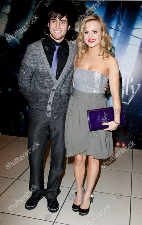 Stock Image of World Premiere of 'Harry Potter and the Deathly Hallows Part One' at the Odeon Leicester Square Tina O'brien with Her 'Strictly Come Dancing' Dance Partner Jared Murillo
