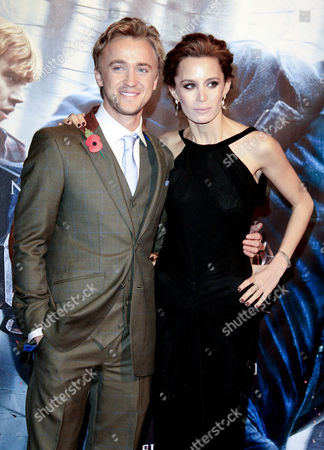 World Premiere of 'Harry Potter and the Deathly Hallows Part One' at the Odeon Leicester Square Tom Felton with His Girlfriend Jade Gordon