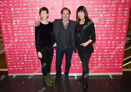 Stock Photo of Christophe Aleveque, Emilie Caen, Serena Reinaldi