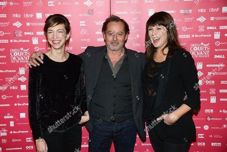 Stock Image of Christophe Aleveque, Emilie Caen, Serena Reinaldi