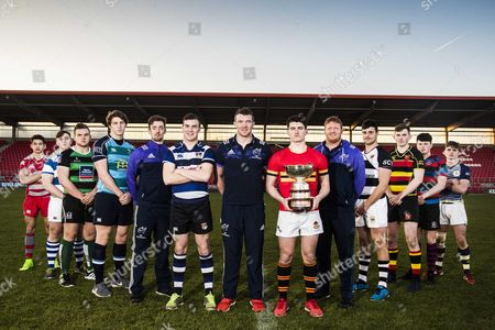 Stock Picture of Clayton Hotels Launch Munster Schools Cup, Irish Independent Park, Cork 30/11/2016 . Clayton Hotels, part of the Dalata Hotel Group PLC, are the Official Hotel Partner to Munster Rugby and sponsor the Munster Schools Senior and Junior Cup competitions. With 13 hotels across Ireland and the UK, Clayton Hotels are located in Munster with properties in Cork and, in the near future, Limerick. For further information on Clayton Hotels visit www.claytonhotels.com and for Munster Rugby visit www.munsterrugby.ie. Mandatory Credit ©INPHO/REPRO FREE***PRESS RELEASE NO REPRODUCTION FEE*** . Clayton Hotels Launch Munster Schools Cup, Irish Independent Park, Cork 30/11/2016 . Clayton Hotels, part of the Dalata Hotel Group PLC, are the Official Hotel Partner to Munster Rugby and sponsor the Munster Schools Senior and Junior Cup competitions. With 13 hotels across Ireland and the UK, Clayton Hotels are located in Munster with properties in Cork and, in the near future, Limerick. For further information on Clayton Hotels visit www.claytonhotels.com and for Munster Rugby visit www.munsterrugby.ie. Pictured (L-R) are Thanade McCoole of Glenstal Abbey, Kevin Kelly of Rockwell College, James French of Bandon Grammar, Sean English of Castletroy College, Darren Sweetnam, John Blake of Cresent College Comprehensive, Peter O'Mahony, Joe Harrington of Christians Brothers College, Stephen Archer, Jack O'Sullivan of Presentation Brothers College, Odhran Ring of Ardscoil Ris, Kelan McMahon of St Munchins College and Aaron Hahir of St Clements College