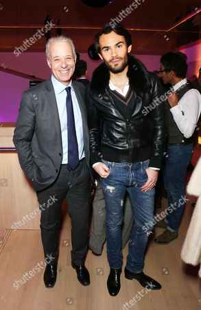 Mark-Francis Vandelli with Martin Waller, founder of Andrew Martin, the awards and the Interior Design Review.