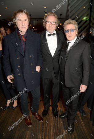 Ray Davies, Alistair Morrison and Roger Daltrey