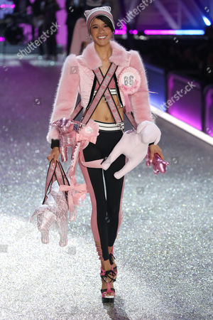 Stock Image of Dilone Altagracia on the catwalk