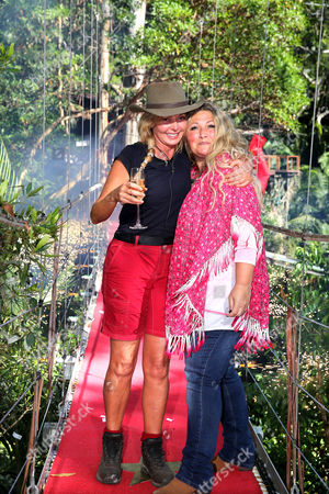 Carol Vorderman becomes the 5th evictee from the Celeb Camp in Australia. She is greeted by her friend Amanda Prowse