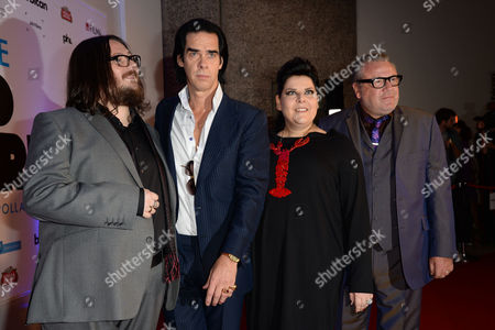 '20 000 Days On Earth' Premiere at the Barbican Directors Iain Forsyth and Jane Pollard with Nick Cave and Ray Winstone