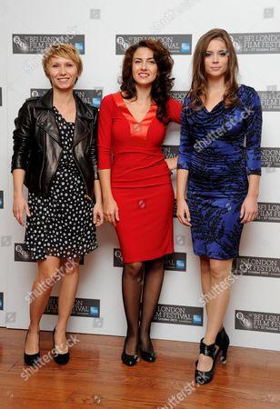 '360' Photocall During the 55th Bfi London Film Festival at the Vue Leicester Square Dinara Drukarova Lucia Siposova and Gabriela Marcinkova