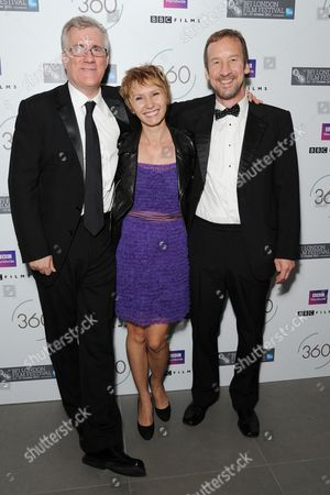 '360' Premiere Afterparty During the 55th Bfi London Film Festival at the Saatchi Gallery Kings Road David Linde Dinara Drukarova and Andrew Eaton