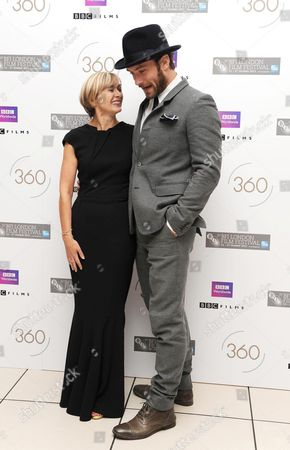 '360' Red Carpet During the 55th Bfi London Film Festival at the Odeon Leicester Square Sandra Hebron and Jude Law
