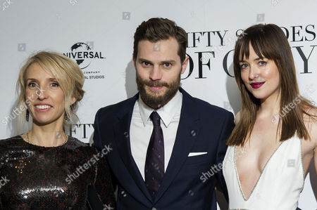 '50 Shades of Grey' Uk Premiere at the Odeon Leicester Square Sam Taylor-johnson; Jamie Dornan and Dakota Johnson