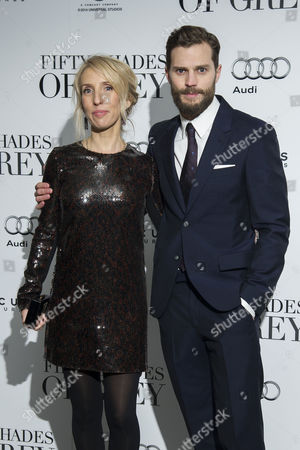 Stock Image of '50 Shades of Grey' Uk Premiere at the Odeon Leicester Square Director; Sam Taylor-johnson and Jamie Dornan