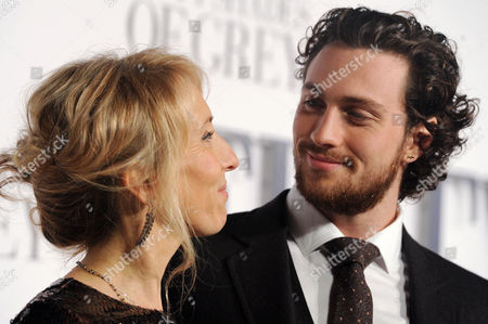 '50 Shades of Grey' Uk Premiere at the Odeon Leicester Square Director; Sam Taylor-johnson with Her Husband Aaron Taylor-johnson