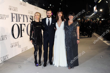 '50 Shades of Grey' Uk Premiere at the Odeon Leicester Square Sam Taylor-johnson; Jamie Dornan; Dakota Johnson and E L James