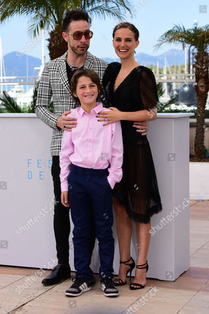 'A Tale of Love and Darkness' Photocall at the Palais Des Festivals During the 68th Cannes Film Festival Gilad Kahana; Natalie Portman and Amir Tessler