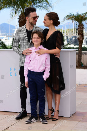 'A Tale of Love and Darkness' Photocall at the Palais Des Festivals During the 68th Cannes Film Festival Gilad Kahana; Natalie Portman and Amir Tessle