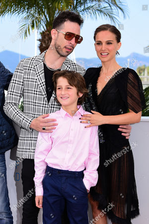 'A Tale of Love and Darkness' Photocall at the Palais Des Festivals During the 68th Cannes Film Festival Gilad Kahana Natalie Portman and Amir Tessler