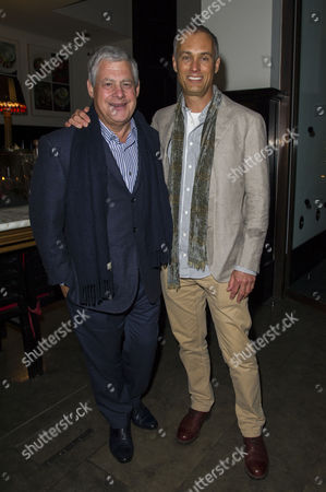 'A View From the Bridge' Press Night Afterparty at the National Portrait Gallery Cafe Cameron Mackintosh with His Partner Michael Le Poer Trench