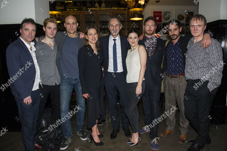 'A View From the Bridge' Press Night Afterparty at the National Portrait Gallery Cafe Richard Hansell Luke Norris Padriag Lynch Mark Strong Nicola Walker Director Ivo Van Hove Phoebe Fox Cary Crankson Emun Elliott and Michael Gould