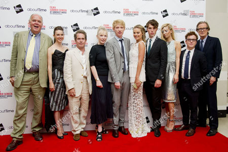 'About Time' World Premiere and Opening of the Film4 Summer Screen at Somerset House Richard Cordery Lydia Wilson Tom Hollander Lindsay Duncan Rachel Mcadams Domhnall Gleeson Richard Curtis Margot Robbie Tom Hughes Vanessa Kirby Joshua Mcguire and Bill Nighy