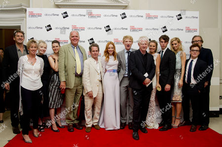 'About Time' World Premiere and Opening of the Film4 Summer Screen at Somerset House Tim Bevan Lindsay Duncan Tom Hollander Richard Cordery Rachel Mcadams Domhnall Gleeson Richard Curtis Margot Robbie Tom Hughes Vanessa Kirby Joshua Mcguire and Bill Nighy