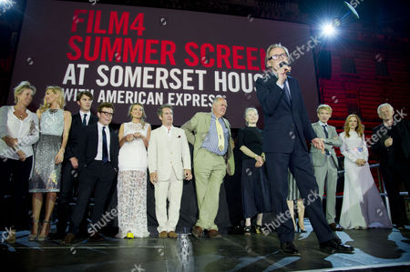 'About Time' World Premiere and Opening of the Film4 Summer Screen at Somerset House Vanessa Kirby Tom Hughes Joshua Mcguire Margot Robbie Tom Hollander Richard Cordery Lindsay Duncan Bill Nighy Domhnall Gleeson Rachel Mcadams Richard Curtis Introduce the Film