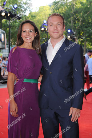 'Alan Partridge: Alpha Papa' Premiere at the Vue Cinema Leicester Square Chris Hoy with His Wife Sarra Kemp