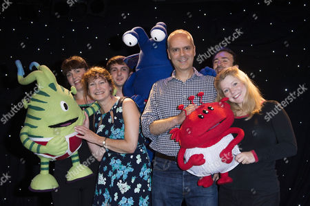Stock Picture of 'Aliens Love Underpants' Tea Party at Leicester Square Theatre Authors Claire Freedman and Ben Cort