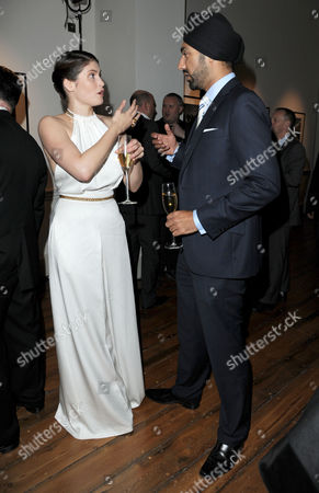 'Amazon' an Exhibition in Aid of Ôsky Rainforest Rescue' at Somerset House Gemma Arterton and Kulveer Ranger