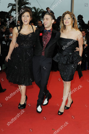 'Amour' Red Carpet at Palais Des Festivals During the 65th Cannes Film Festival Mylene Jampanoi Director Xavier Dolan and Suzanne Clement