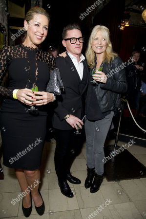 Stock Picture of 'Beautiful Thing' Press Night After Party at Salvatore and Amanda Newport Street Claire Sweeney Scott Neal and Gaby Roslin