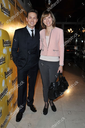 Stock Image of 'Beautiful-the Carole King Musical' Press Night at the Aldwych Theatre and Afterparty at Somerset House Dylan Turner and Fiona Bruce