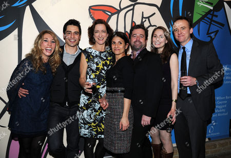 'Becky Shaw' Press Night at the Almeida Theatre Daisy Haggard Vincent Montuel Haydn Gwynne Writer Gina Gionfriddo Director Peter Dubois Anna Madeley and David Wilson Barnes