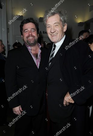 'Becky Shaw' Press Night at the Almeida Theatre Director Peter Dubois and Sir Ian Mckellen